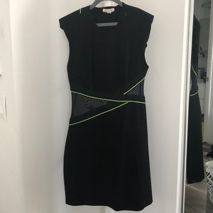 Silence + noise black mesh dress - XS